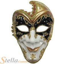 Adulto Máscara De Cara Completa Hombre Bufón ventian Mascarada Disfraz De Halloween Disfraz