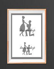 Proposal Wedding A4 Mylar Reusable Stencil Airbrush Painting Art Craft