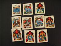Lot of 10 Vintage 1986 Milton Bradley GI Joe Insert Stickers