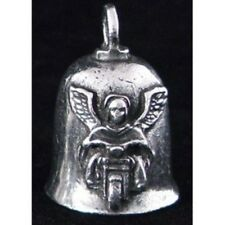 Pewter Motorcycle Gremlin Bell Guardian Angel on a Bike Made in the USA