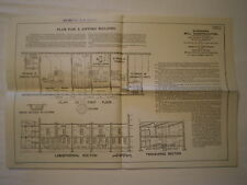ANTIQUE 1903 STANDARD MILL DIPPING BUILDING FLOOR PLAN for FIRE PREVENTION