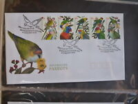 2005 AUSTRALIAN PARROTS SET 5 STAMPS FDC FIRST DAY COVER