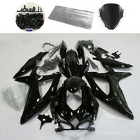 Fairing Kit for Suzuki GSXR600/750 2008-2010 K8 09 Glossy Black BodyWork + Bolts