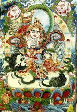 TIBETAN GOLDEN SILK THREAD BUDDHA EMBROIDERED THANGKA MODERN NEW. THANKA TANGKA