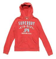 Superdry Womens Size M Cotton Blend Red Hoodie (Regular)