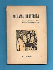 (AM) LIBRETTO OPERA-MADAMA BUTTERFLY-PUCCINI-EDIZIONE RICORDI RISTAMPA 1975