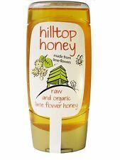 Hilltop miel brut Bio Citron vert fleur miel 370g - Bouteille Squeezy