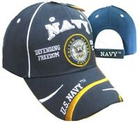 U.S. Navy Defending Freedom OFFICIALLY LICENSED With Seal Baseball Cap Hat