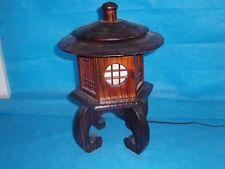 "Japanese Vintage 14""  pagoda lantern lamp shou sugi ban style"