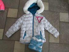 NEW SNOZU WINTER JACKET & HAT SET WINTER COAT GIRLS 18M W/ HOOD FLEECE LINED