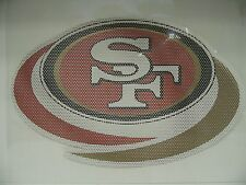 12-Inch San Francisco 49ers Logo Perforated Vinyl Window Graphic