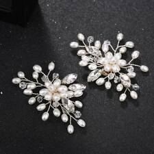 2 Pcs Pearl Crystal Shoe Clips Decoration Bridal Shoes Rhinestone Clip  Buckle 10458bb2844f