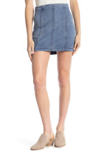 e05bff4161 People Modern Femme Denim Mini Skirt Faded Indigo Blue Size 10