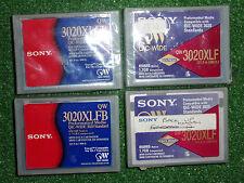 4 X Sony QW 3020XLFB 1.7GB QIC-ancho 3020 Cartucho de medios de datos (2x nuevo 2x Usado)