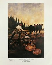 GEORGE RODRIGUE SAGA OF THE CAJUNS - FIRST PLANTING -  # LIMITED  8 X 10 W/CERT