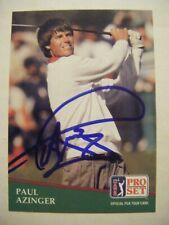 PAUL AZINGER signed 1991 Pro Set golf card AUTO Autographed HOLYOKE MA BREVARD C