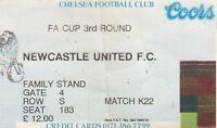 Ticket - Chelsea v Newcastle United 17.01.96 FA Cup