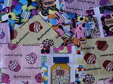 "50 x 4"" 100% Cotton Fabric Sweet Shop Bundle patchwork squares~ Quilting"