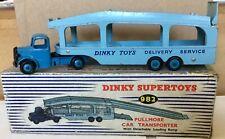 DINKY TOYS 982 BEDFORD PULLMORE CAR TRANSPORTER & LOADING RAMP IN ORIGINAL  BOX