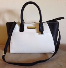 DKNY White & Black Saffiano Leather tote handbag w dust bag NWT $295