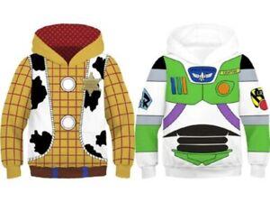 Kids Toy Story Woody And Buzz Lightyear Hoodie Pullover Sweatshirt Cosplay Coat