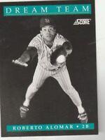 FREE SHIPPING-MINT-1991 Score San Diego Padres  #887 Roberto Alomar DREAM TEAM-2
