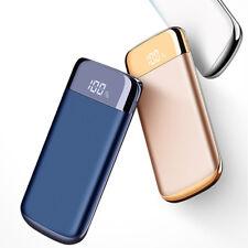 Gold 10000mAh Portable Power Bank LCD Dual USB External Power Battery Charger