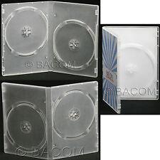 100 Custodie DVD Doppie Semi Trasparenti - DVD Semi Clear per 2 DVD/CD S. gratis