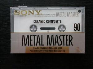 Sony Métal Master 90 min cassette audio. Neuve.
