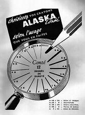 ▬► PUBLICITE ADVERTISING AD ALASKA Crayon de papier 1950