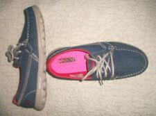 SKECHERS GOGA MAT RESALITE Denim Fabric w/ Laces Slip-On Shoes--Sz 7.5--NWOB