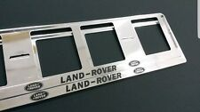 2 X RANGE ROVER  EUROPEAN LICENSE NUMBER PLATE SURROUND FRAME HOLDER