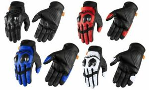 Icon Contra Pair Leather Textile Motorcycle Riding Street Racing Gloves