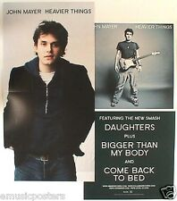 "John Mayer ""Heavier Things"" 2-Sided U.S. Promo Poster / Banner"