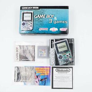 Nintendo Game Boy Pocket Clear with Original Box & Alleyway Game VGC