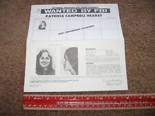 Original WANTED POSTER Patricia PATTY HEARST Black Panthers Power 1974