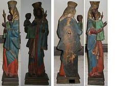 Barock Madonna Altötting schwarz gefasst Figur Skulptur TOPTEIL !!!