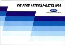 Ford folleto 1986 8/86 Sierra RS Cosworth escort XR 3i fiesta xr2 Scorpio Ghia