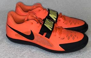 NIKE Zoom Rival SD 2 Bright Mango Throwing Field Discus Shoes Mens 10.5 11.5 12