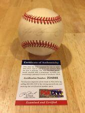 PSA IVAN RODRIGUEZ SIGNED AUTOGRAPHED BASEBALL MLB BALL COA HOF 2017