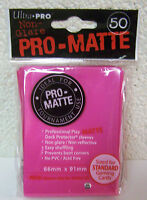 50 Ultra Pro Pro-Matte Bright Pink MTG Deck Protector Gaming Card Sleeves