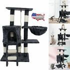 Cat Tree Deluxe Multi Level Tower With Scratching Climb Activity Pet Bed House
