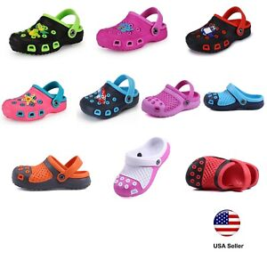 Kids Clogs For Toddler Boys Girls Big Kids Garden Beach Slip-on Shoes LUXHSTORE