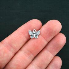 Swallowtail Butterfly Charm Gold Enamel Pendant Yellow Spring Garden Finding