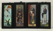 Disney Parks Haunted Mansion Stretching Room Mini Frame Set of 4 New