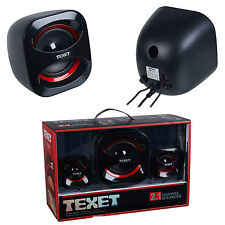 High Quality USB Sound Texet 2.1 High density channel speakers system set NEW