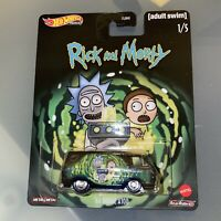Rick and Morty Complete Set of 5 - Hot Wheels Premium Real Riders (2020)
