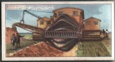 Giant Earth Excavator Heavy Equipment 90+ Y/O Ad Trade Card