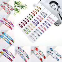 10Pcs Wholesale Multicolour Hair Snap Clips Claws Women's Girls Hair Accessories
