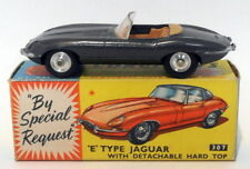 Vintage Corgi 307 - E Type Jaguar Detachable Hard Top Missing - Metallic Grey